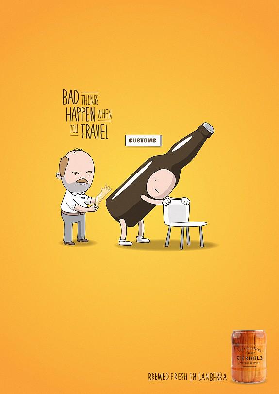旅行会有坏事发生!留下来喝本地啤酒吧!