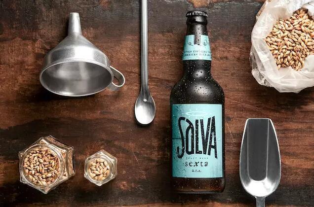 具有海报感的外表-巴西Salva啤酒